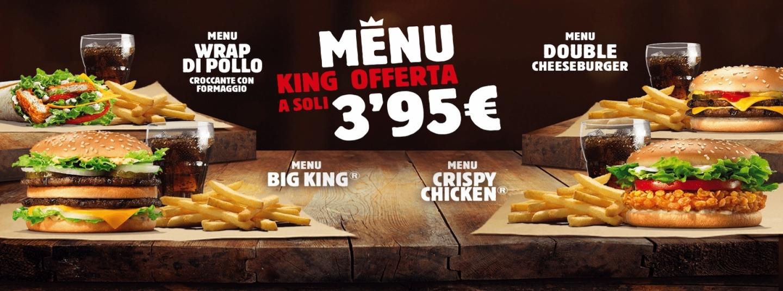MENU KING OFFERTA A SOLI 3,95€ - Amico Burger King